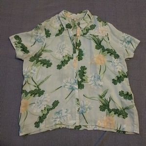 River Island Boxy Tropical Floral Shirt